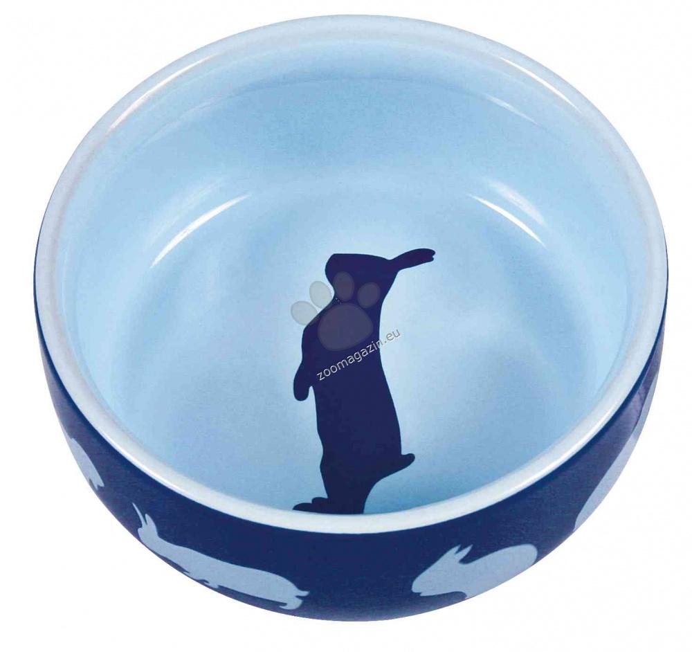 Тtrixie Ceramic Bowl Rabbit - керамична купичка 250 мл. / кафява, розова, синя /