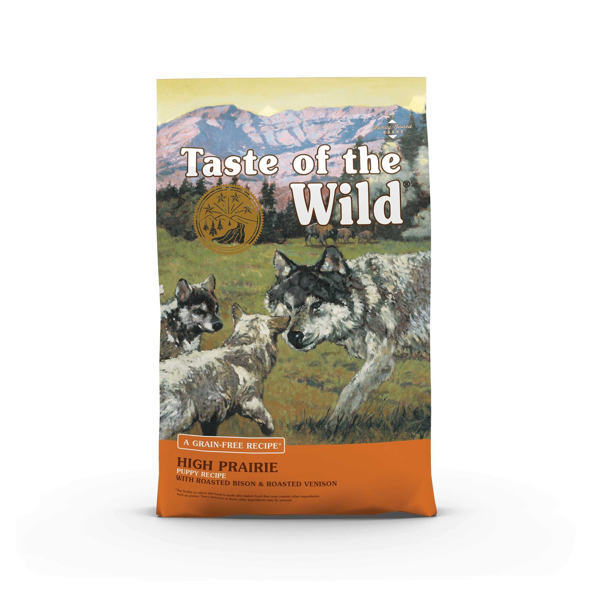 Taste of the Wild High Prairie Puppy with Bison & Roasted Venison - храна с бизонско и еленско месо, за подрастващи кучета от 1 до 12 месеца 12.2 кг.