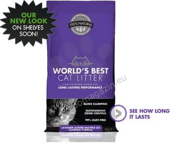 Worlds Best Cat Lavender Scented Multiple cat litter - най добрата тоалетна за Вашият дом 3.18 кг. / с аромат на лавандула /