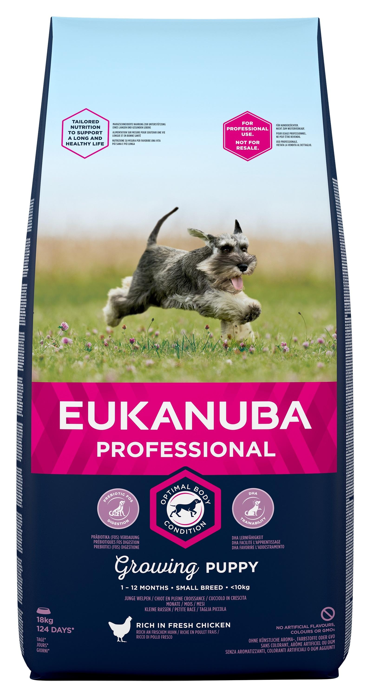 Eukanuba Puppy Chicken Small Breed - за кучета малки породи до 10 кг и възраст от 1 до 12 месеца 18 кг.