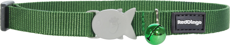 Red Dingo Cat Collar Classic Green - котешки нашийник, 12 мм х 20-32 см