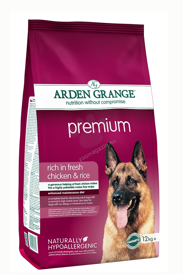 Arden Grange - Premium Chicken - богата на прясно пилешко месо,за кучета над 12 месеца 12 кг.