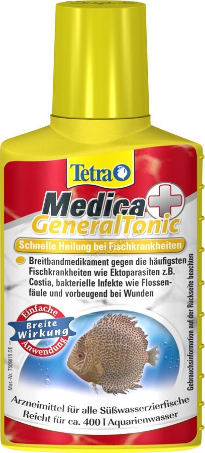 Tetra - Medica GeneralTonic - за лечение на бактериални инфекции, екзопаразитозите и гъбични заболявания 100 мл.