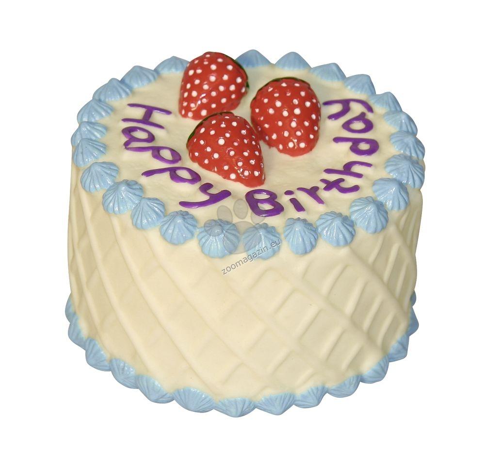 Kerbl Birthday Cake - винилова играчка 10 см. / розова, синя /