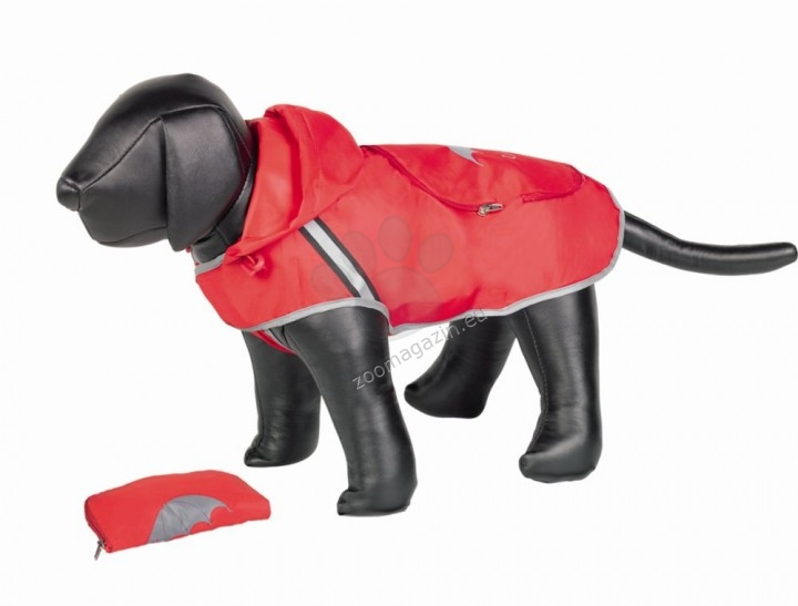 Nobby Rainy - дъждобран за кучета с дължина на гърба 40 см. / червен, черен /