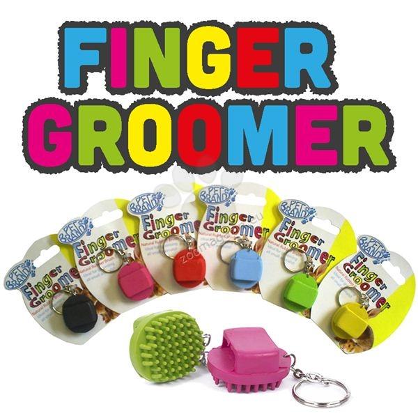 Pet Brands Finger Groomer - мини четка за гризачи / червена, розова, синя, жълта /
