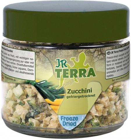 JR Farm Terra Freeze Dried Zucchini - зелени тиквички, за сухоземни костенурки, брадати гущери, зелени игуани, бодливи гущери и други всеядни и растителноядни влечуги 10 грaма