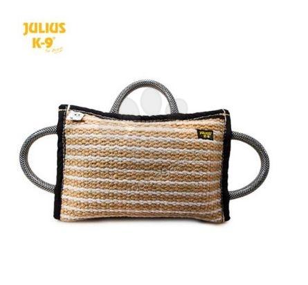 Julius K9 - възглавничка за хапане с 3 дръжки 35 / 20 / 6.4 см. юта мека