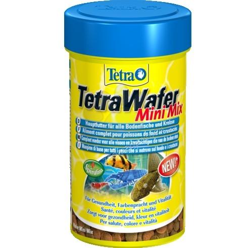 Tetra - Wafer Mini Mix - храна за рибки и ракообразни, хранещи се в долните слоеве на водата 100 мл.