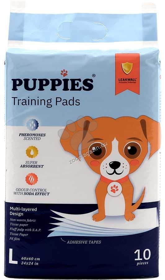 Puppies - хигиенна подложка с феромони 60 / 60 см.,  10 броя