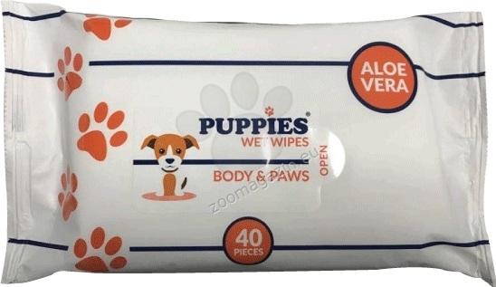 Puppies EYES & EARS - мокри кърпички за очи и уши 15 / 20 см., 40 броя