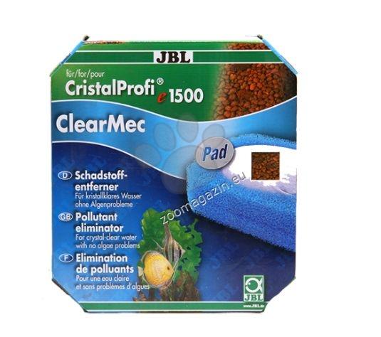 JBL ClearMec plus Pad CP e1500/1 - комплект за премахване на фосфати, нитрати и нитрити с гъба за външен филтър СР е1500/1 - 800ml