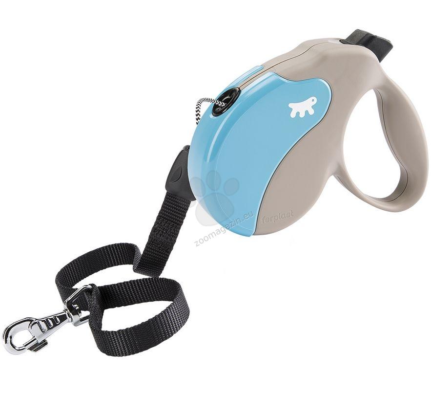Ferplast - Amigo Cord L Beige Turquoise - 5 метра въже, за кучета с тегло до 50 кг.
