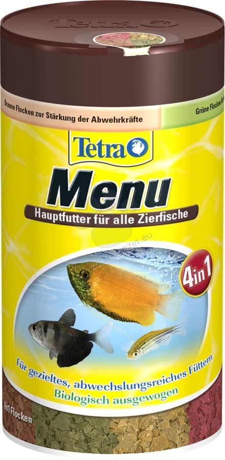 Tetra - TetraMin Menu - четири вида храна за всички видове тропически рибки 250 мл.