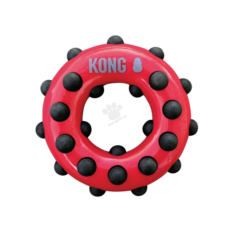 Kong Dotz Circle S - здрава иновативна играчка за висока устна хигиена, за кучета до 15 кг.