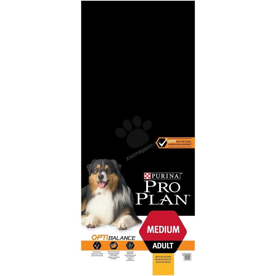 Pro Plan Adult Medium - с пилешко месо, за кучета средни породи / 10-25 кг. / над 12 месеца  14 кг. + 2.5 кг. ГРАТИС