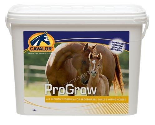 Cavalor Progrow - гранулирана хранителна добавка за жребчета, млади коне и кърмещи кобили 5 кг.
