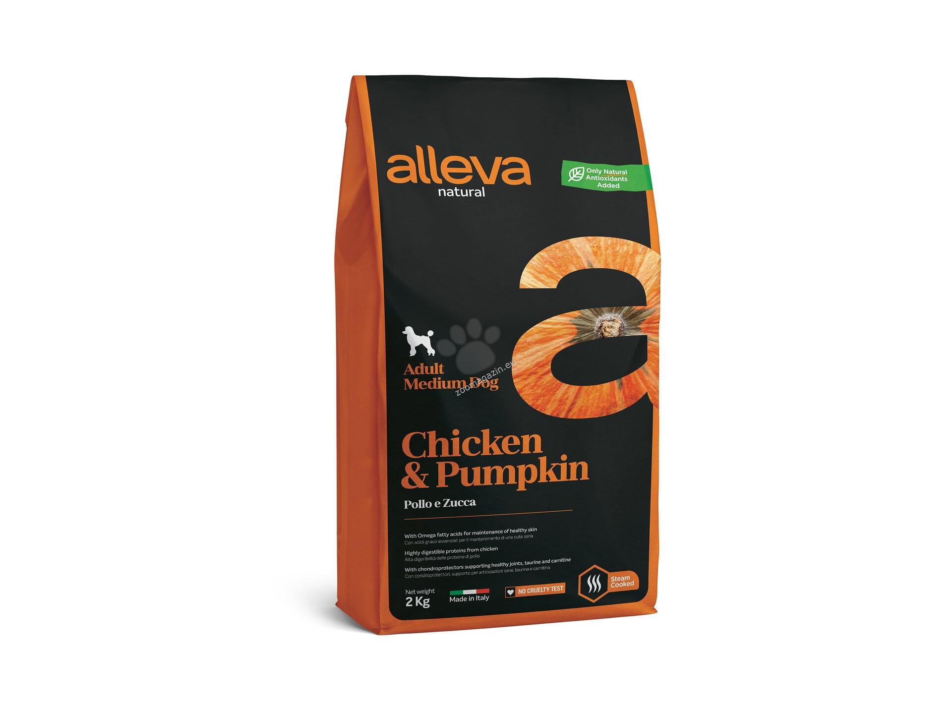 Alleva Natural Adult Medium Chicken & Pumpkin - с пилешко месо, за кучета средни породи / 10-25 кг. / и възраст над 12 месеца 2 кг.