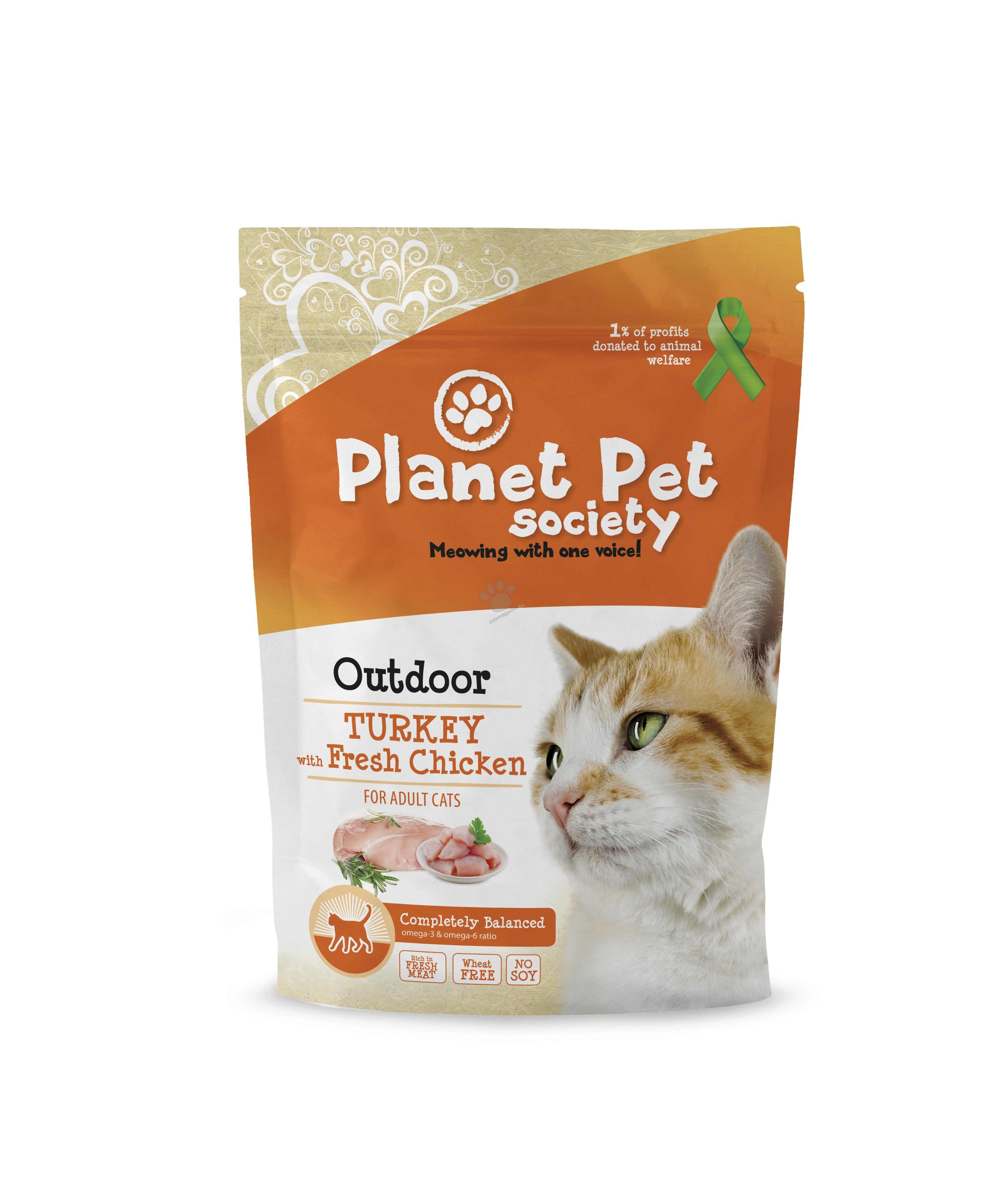 Planet Pet Turkey for Outdoor Cats - пълноценна храна с пуешко месо, за котки отглеждани на открито 7 кг.