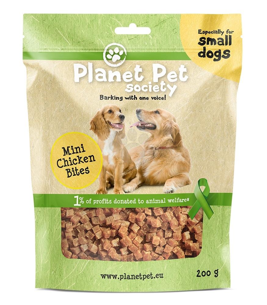 Planet Pet Chicken bites mini - мини пилешки хапки, за малки породи кучета 200 гр.