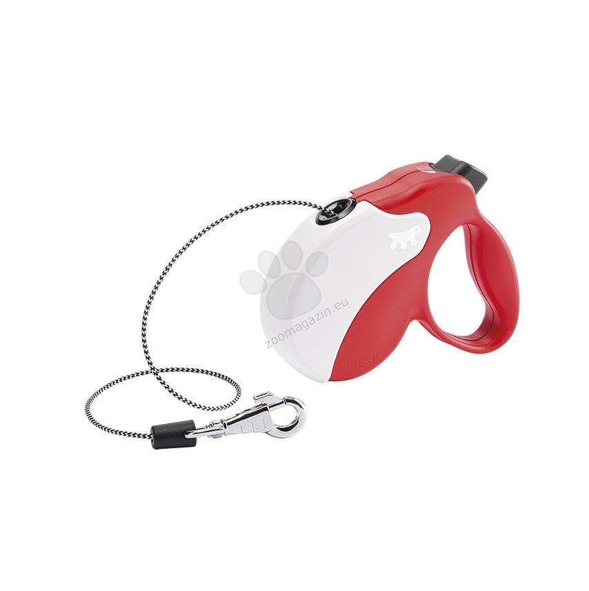 Ferplast - Amigo Cord Mini Red White - 3 метра въже, за кучета с тегло до 12 кг.