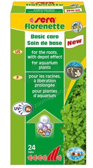 Sera - Florenette A - тор за растенията под формата на таблетки 24 бр.
