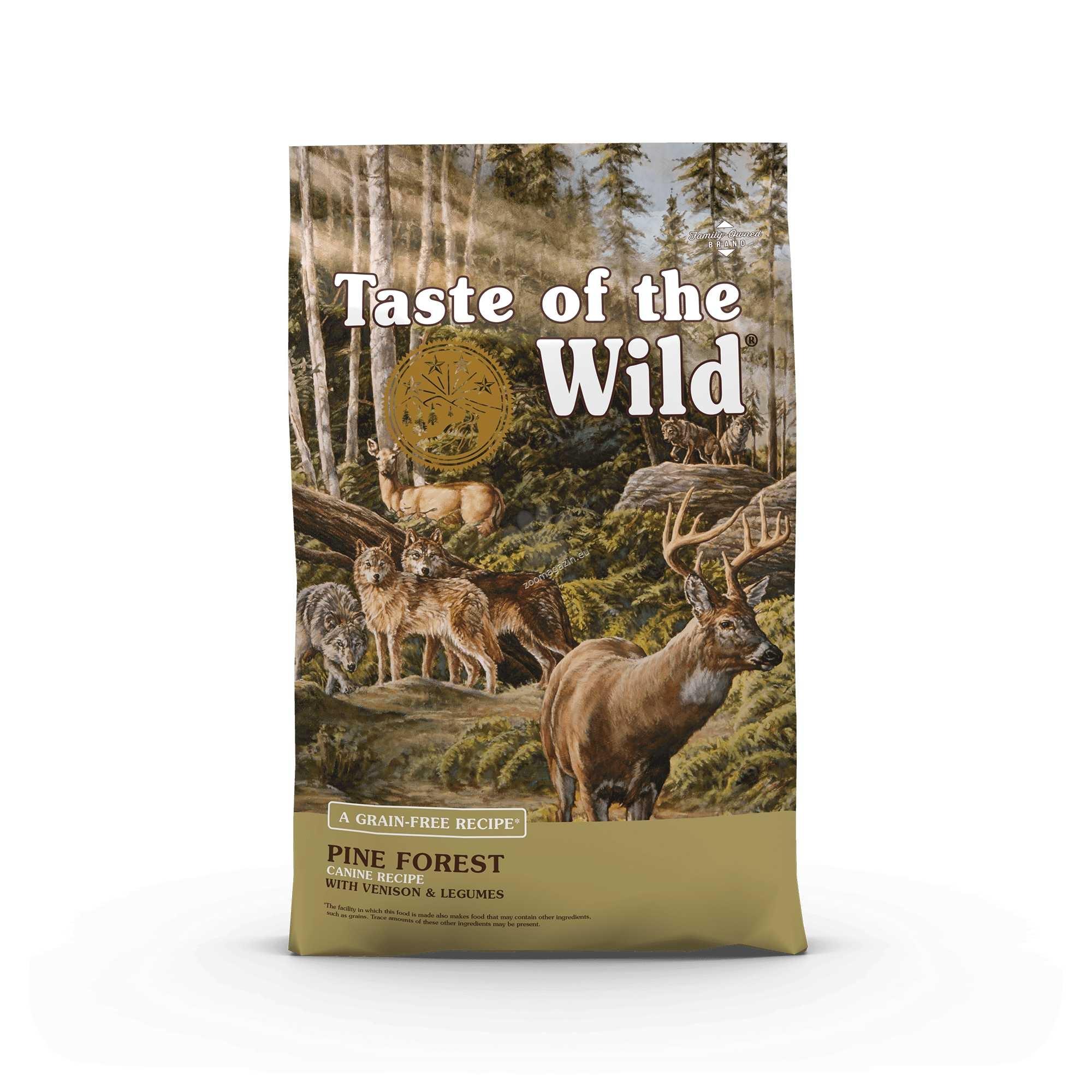Taste of the Wild Pine Forest Canine Recipe with Venison & Legumes - с дивечово, агнешко месо и бобови растения 12.2 кг.