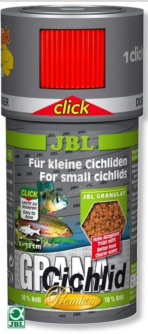 JBL Premium Grana Cichlid click - храна за месоядни цихлиди 100 мл