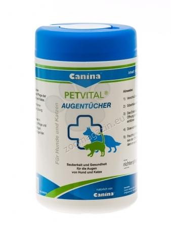 Canina Petvital Augentucher - кърпички, грижа и почистване на очите, 120 броя