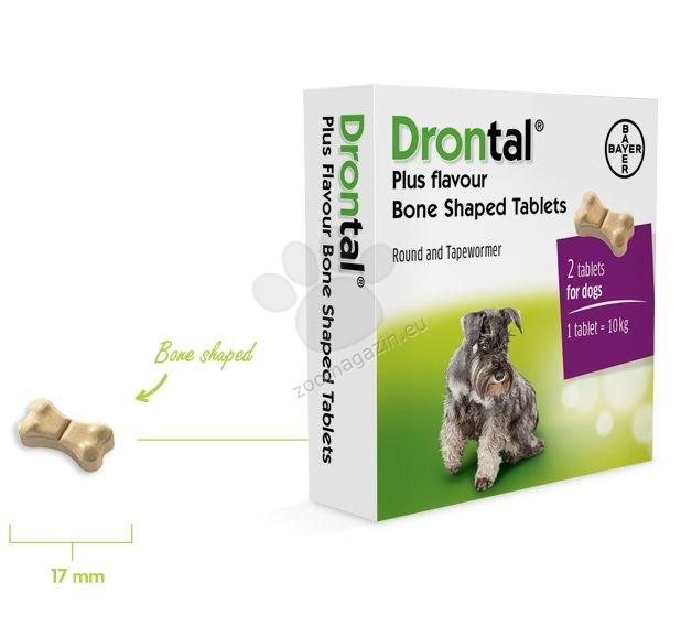 Bayer Drontal Plus - обезпаразитяващи таблетки 6 броя ЦЯЛА ОПАКОВКА, 1 таблетка за 10 кг. тегло