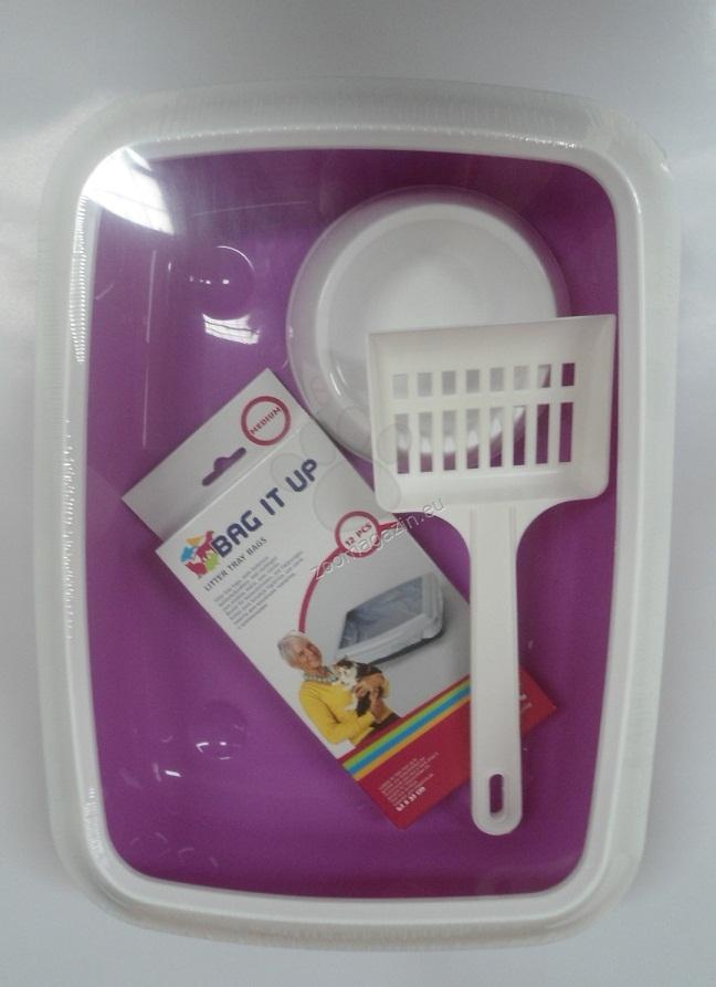 Savic Isis Kit - комплект за малки котенца, съдържащ купа за храна или вода, лопатка и найлонови пликове 42 / 31 / 12.5 см.