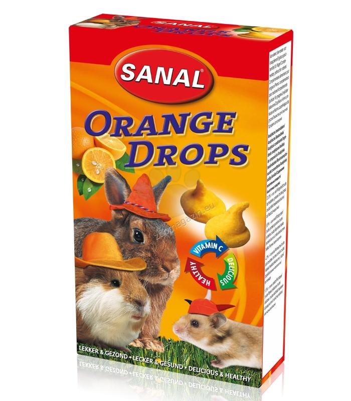 Sanal Rodent Orange Drops - деликатесно лакомство с портокали 45 гр.
