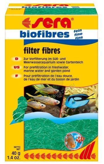 Sera - Biofibres fine  - филтърен пълнеж за механично и биологично пречистване на водата 40 гр.
