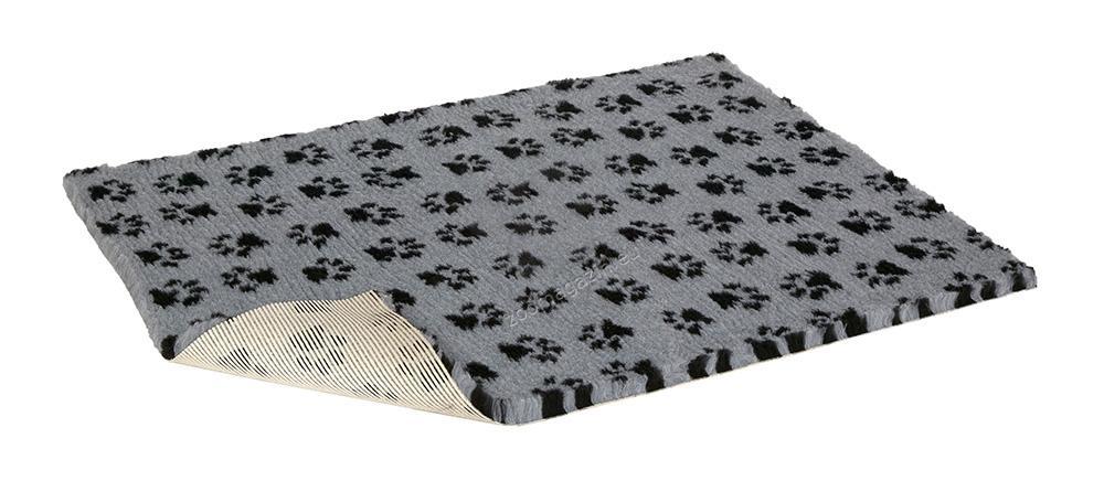 Vetbed Non-Slip Paws Grey/Black - μαλακο χαλί με αντιολισθητικό στρώμα 80 / 75 εκ.