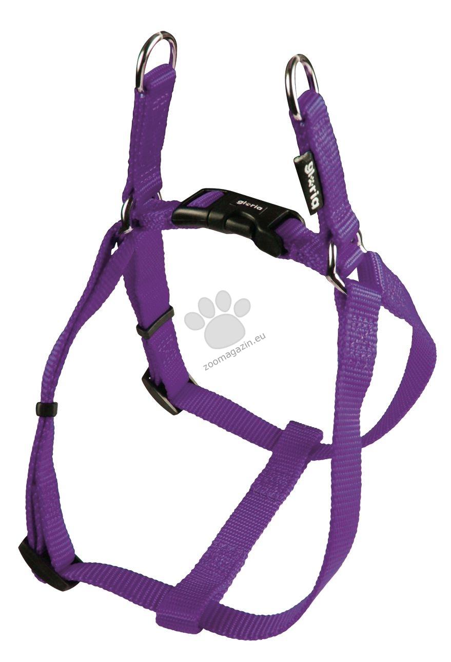 Gloria Harness S - нагръдник за кучета с обиколка на гърдите 35 - 51 см. / лилав, черен, червен, розов /