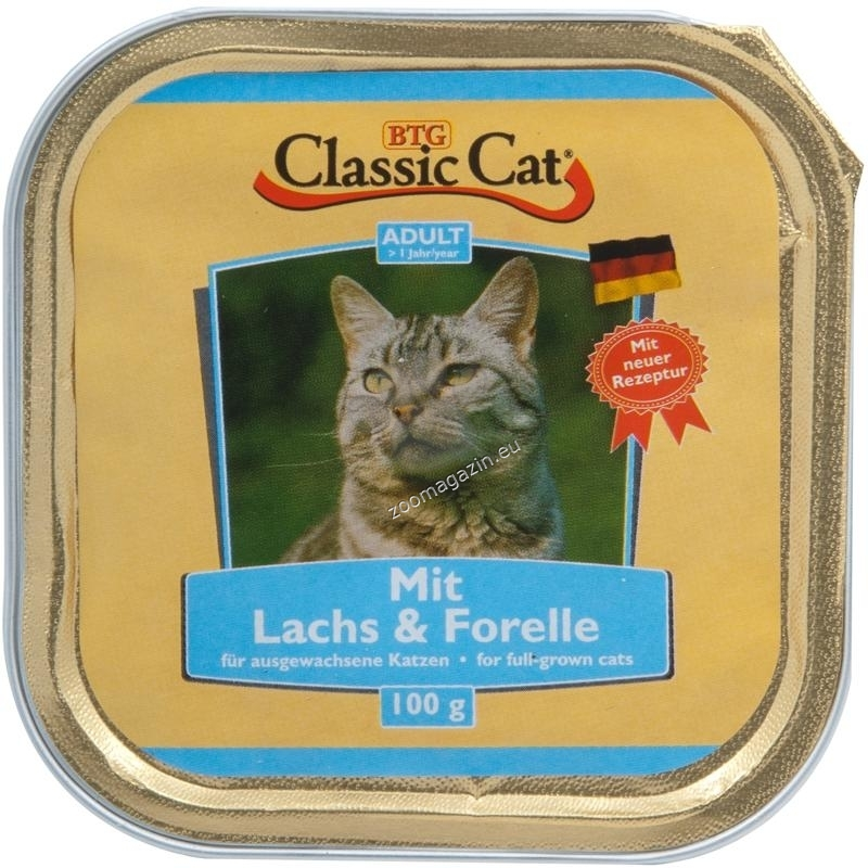 Classic Cat Salmon Тrout - пастет със сьомга и пъстърва 100 гр.