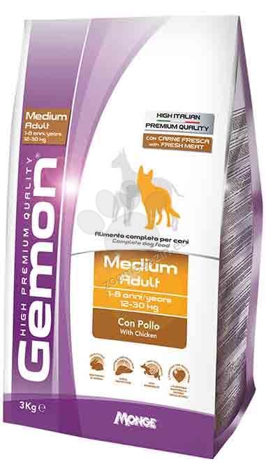 GEMON Medium adult chicken & rice - за кучета в зряла възраст от средни породи с пилешко и ориз 15 кг.