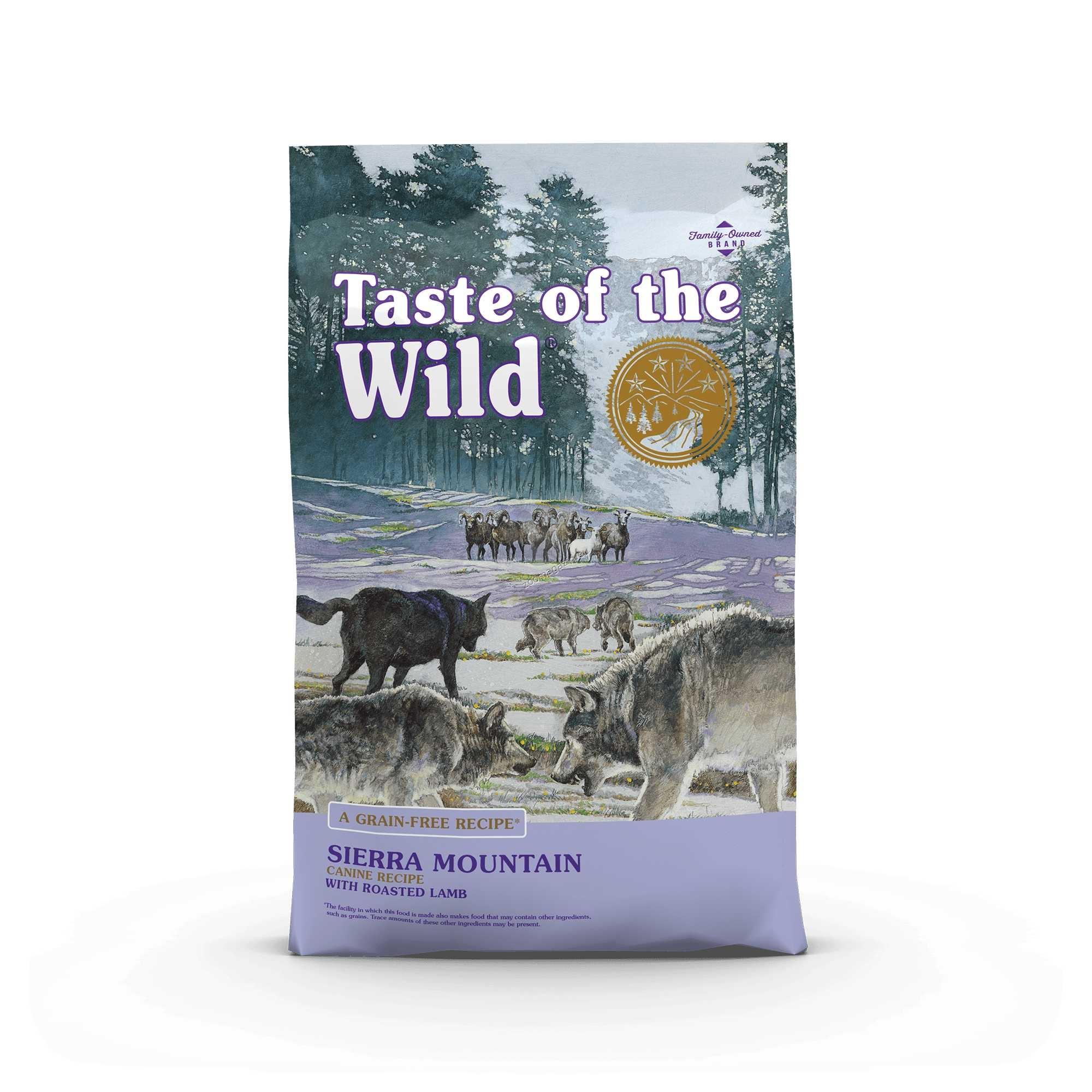 Taste of the Wild Sierra Mountain Canine Formula with Roasted Lamb - храна за кучета с печено агнешко месо 12.2 кг.