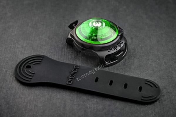 Orbiloc Dual Safety Light Green - най-добрият флашер за Вас и Вашето куче, зелен