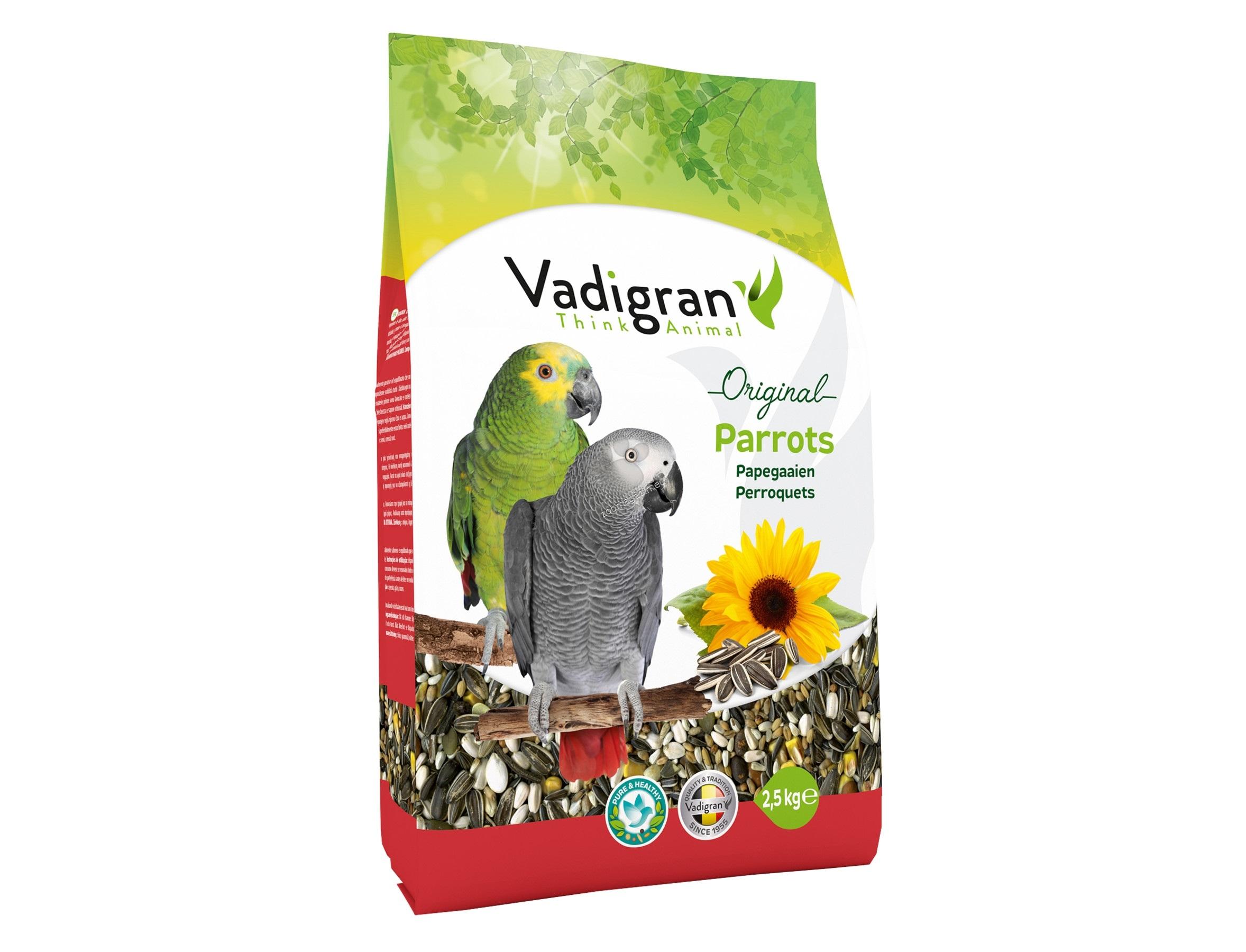 Vadigran - Original Parrot - пълноценна храна за големи папагали 2.5 кг.