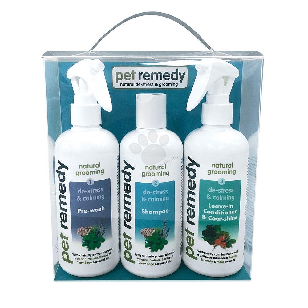 Pet Remedy Grooming Kit - комплект успокояващ спрей за преди къпане, шампоан и балсам