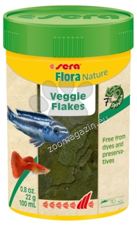 Sera Nature Flora - основна храна със спирулина без оцветители и консерванти 100 мл