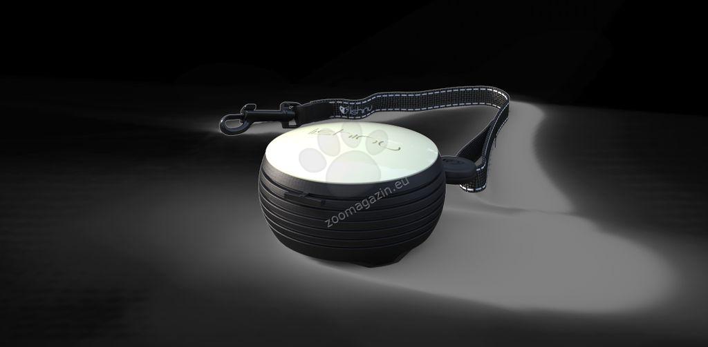 Lishinu Dog Leash White Small -αυτόματος οδήγος με το