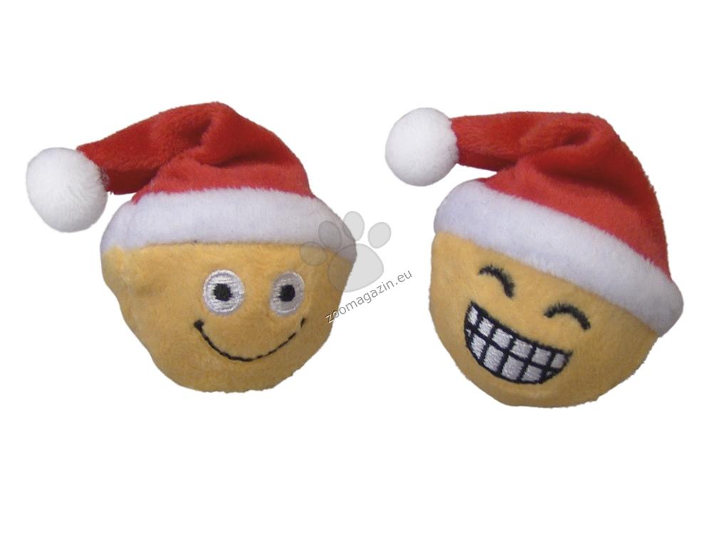 Nobby Xmas Santa ball with rattle - коледни играчки 5 см.