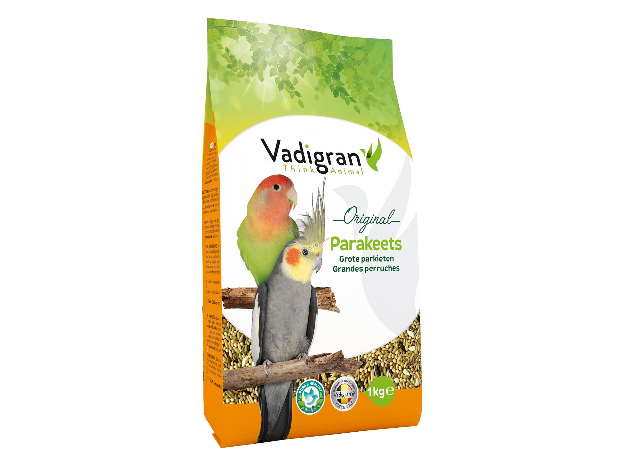 Vadigran - Original Parakeet - пълноценна храна за средни папагали 1 кг.