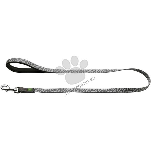 Hunter Convenience Reflect - повод 20 мм. / 120 см. леопардов принт / бял, сив /