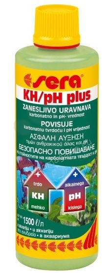 Sera - KH/pH plus - за безопасно повишаване на карбонатната твърдост (kH) и pH на водата 100 мл.