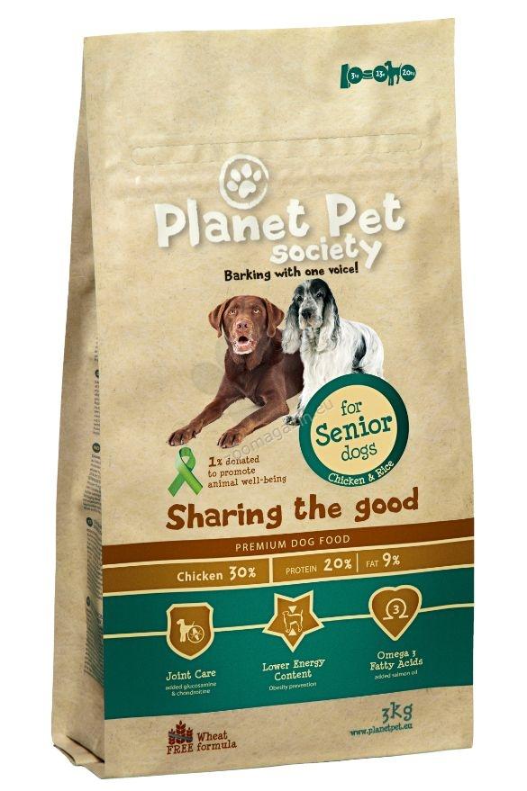 Planet Pet Society Senior - пълноценна храна за възрастни кучета над 7-годишна възраст, 15 кг