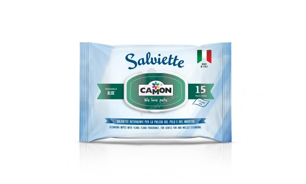 Camon Eye Wipes - мокри кърпички за почистване на очите 15 броя