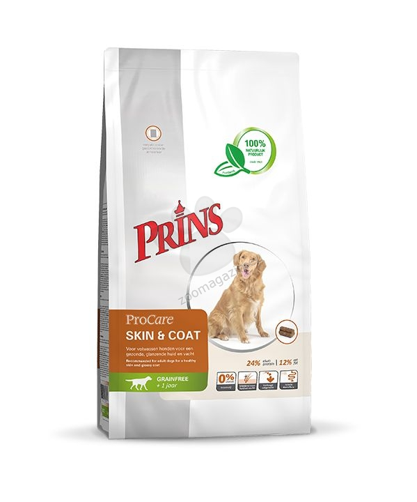 Prins Grain Free Skin & Coat - за кучета за поддържане на здрава кожа и лъскава козина, подходяща за кучета с по-ниски енергийни потребности 12 кг.